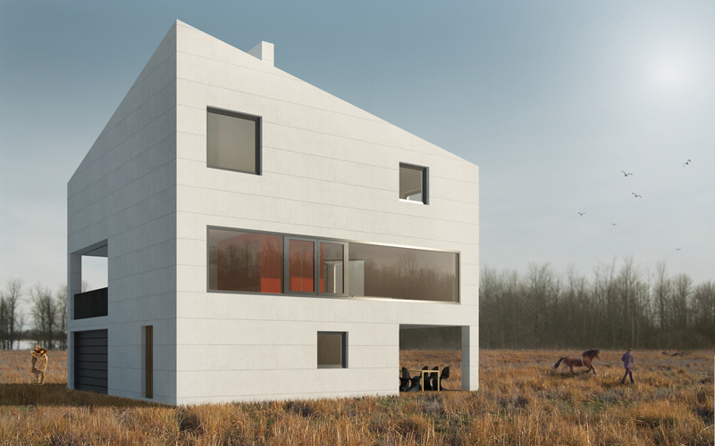 дом скала rock house zaarchitects